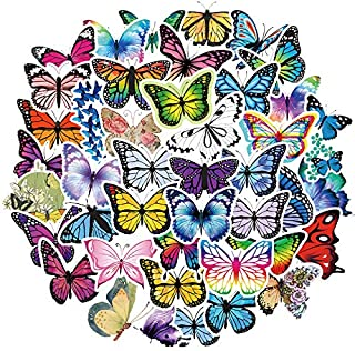 Flying Butterfly Stickers of 50 Vinyl Decal Merchandise Laptop Stickers for Laptops, Computers, Hydro Flasks, Skateboard a...
