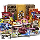 VINTAGE CANDY CO. 30TH BIRTHDAY RETRO CANDY GIFT BOX - 1991 Decade Childhood Nostalgic Candies - Fun Funny Gag Gift Basket - Milestone 30 THIRTIETH Birthday - PERFECT For Man Or Woman Turning THIRTY