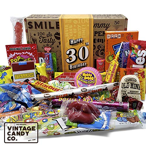 VINTAGE CANDY CO. 30TH BIRTHDAY RETRO CANDY GIFT BOX - 1991 Decade Childhood Nostalgic Candies - Fun...