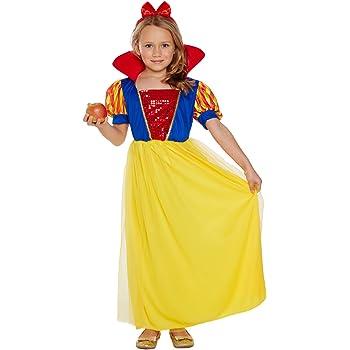 Disfraz infantil Nieve Niña MEDIANO 7-9 AÑOS: Amazon.es: Juguetes ...