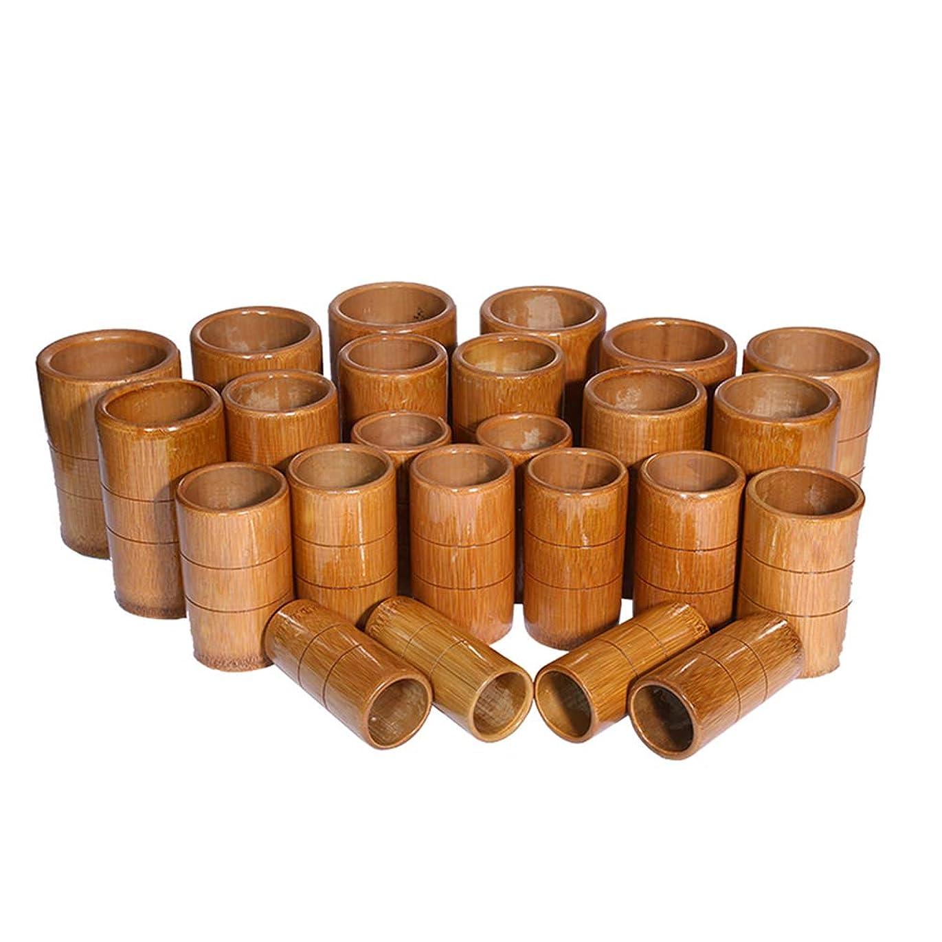 レイ出来事反動マッサージバキュームカップキット - カッピング竹療法セット - 炭缶鍼治療ボディ医療吸引セット,A10pcs
