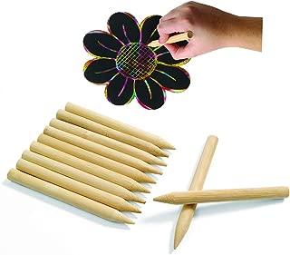 Colorations SDJPEN Scratch Designs Jumbo Wooden Art Sticks 8 (Pack of 48)