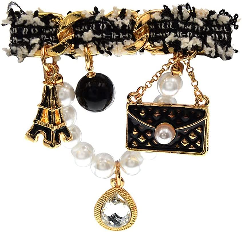 GYZX Ranking TOP15 New Cloth Hanging Animer and price revision Pearls Brooches Vintage Unisex Bag Women