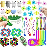 36 Pcs Sensory Fidget Toys Set, Stress Relief and Anti-Anxiety Tools for Kids and Adults, Carnival, Treasure Box Prizes Toys for Classroom, Pinata Goodie Bag Fillers, Christmas Stocking Stuffers