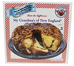 This is the cake that started the My Grandma's of New England coffee cake tradition Double-layered cake made with fresh farm eggs, sour cream and pure Bourbon Vanilla with cinnamon streusel and whole walnuts One-pound twelve-ounce coffee cake serves ...