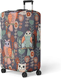 Baggage Covers Retro Flying Birds Tree Branch Flowers Washable Protective Case
