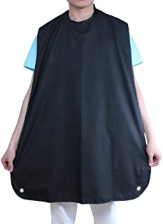 ewinever(R) Professional Salon Beard Bib Catcher Cape for Shaving Hair Clippings Grooming Apron with Suction Cups