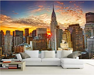 Pbldb New York City Natural Scenery 5D Wall Mural Wall Paper for Living Room Sofa Background Mural Wallpaper 3D Wall Photo Mural-350X250Cm