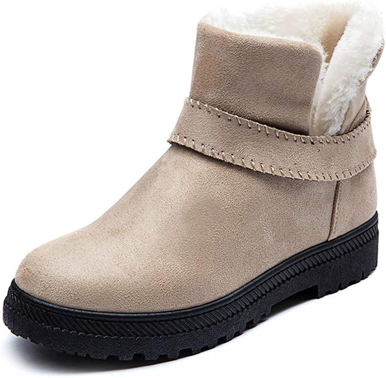 KAOKAOO Women's Cotton Boots Fashion Outdoor Martin Boot