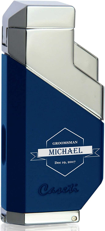 Personalized Groomsmen Caseti Max 84% OFF Cozmo Triple - Torch El Paso Mall Cigar Lighter