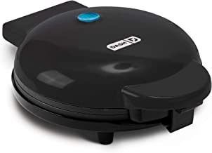 """Dash DEWM8100BK Express 8"""" Waffle Maker Machine for Individual Servings, Paninis, Hash browns + other on the go Breakfast, Lunch, or Snacks, with Easy Clean, Non-Stick Sides, Black"""