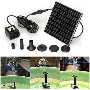 Mignon Bain dOiseau pompe /à eau solaire /électrique Pompe Ext/érieure Arrosage Submersible Jardin Autoportant 1.4W Panneau Solaire Kit Pompe /à eau Ankway Fontaine solaire Circle