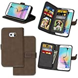 Zl One Matting PU Leather Protection 9 Card Slots Wallet Flip Case Cover for Huawei Mate 9 (Brown)