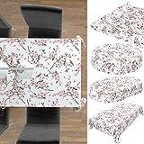 ANRO Wachstuch Tischdecke abwaschbar Wachstuchtischdecke Wachstischdecke Sakura Vogel 100x140cm - 5