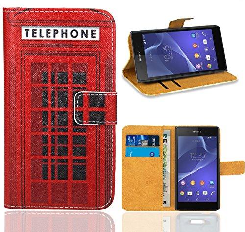 FoneExpert® Sony Xperia Z2 Handy Tasche, Wallet Hülle Flip Cover Hüllen Etui Ledertasche Lederhülle Premium Schutzhülle für Sony Xperia Z2