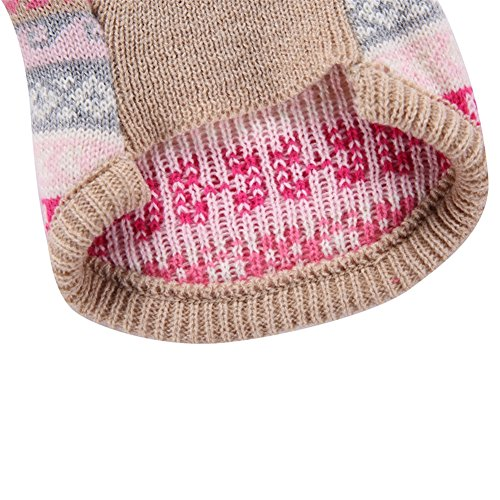 YZBear Hundepullover Welpen Warm Weihnachten Schneeflocke Pullover Mantel Pet Kleidung Bekleidung - 3