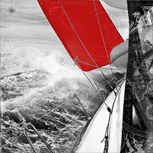 Pro-Art-Bilderpalette per-Tipo gla1108a Wandbild Glas-Tipo 'Red Spinnaker III' 30 x 30 cm