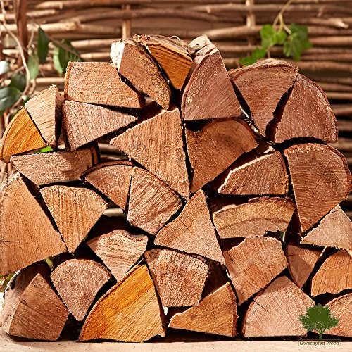 Hardwood Firewood Chunky Logs -Kiln Dried - Large Heavy 40 litre, 27cm long, Perfect for Open Fire Stoves, Log Burner, Fire Pits, Pizza Ovens Fast Delivery (1 X 15KG Net)
