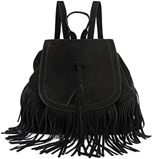 Best faux leather fringe backpack Reviews