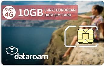 dataroam Prepaid 4G Europe Data SIM Card - Europe 10GB Bundle - 36 Countries - 3-in-1 SIM - Cellhire