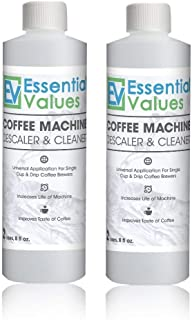 Essential Values Universal Descaling Solution (2 Pack / 4 Uses Total), Designed to Clean..