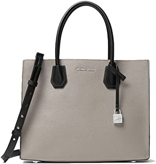 MICHAEL KORS MERCER LARGE LEATHER TOTE TRY-TONE PEARL