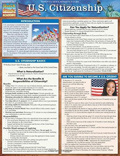 U S Citizenship Quick Study Academic