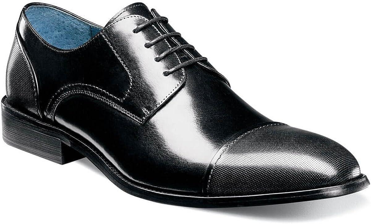 STACY ADAMS Men's, Jemison Cap Toe Lace up Oxford Black 12 M