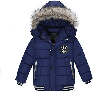 Baby Winter Coat 2-5 Years Old,Toddler Boys Girls Kids Cotton-Padded Clothes Hooded Zipper Warm Thick Jacket
