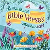 """The Illustrated Bible Verses Wall Calendar 2021 [12"""" x 12"""" Inches]"""