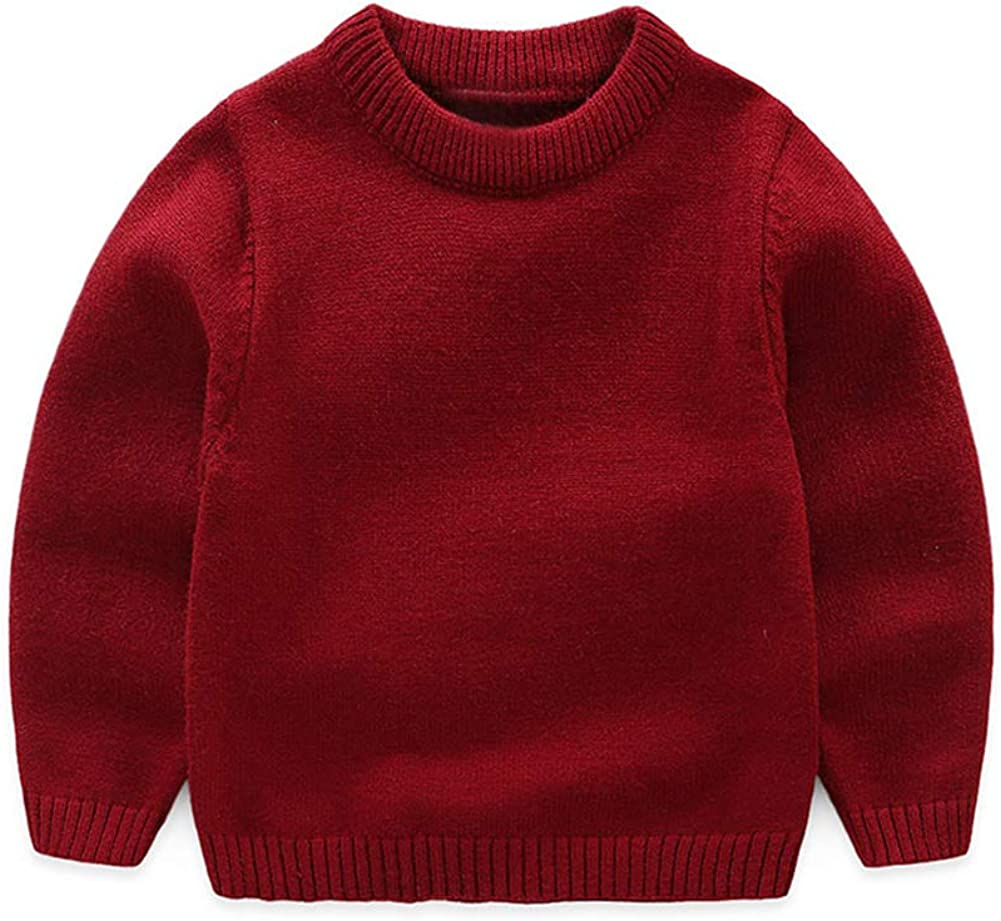 Mud Kingdom Little Boy Pullover Sweater Crew Neck Red Size 6