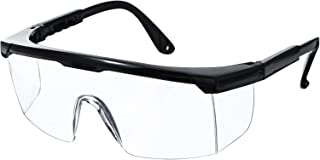 Safety Glasses Goggles, Protective Eyewear Goggles Resistant Wrap-Around Lenses Eyewear Protective Glasses for Work Labs (...