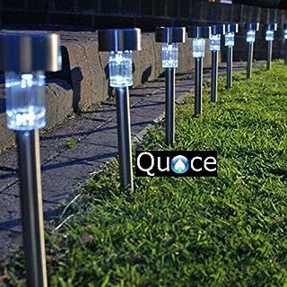 Quace Solar LED Light Set (Silver, 10-Pieces, Metal)