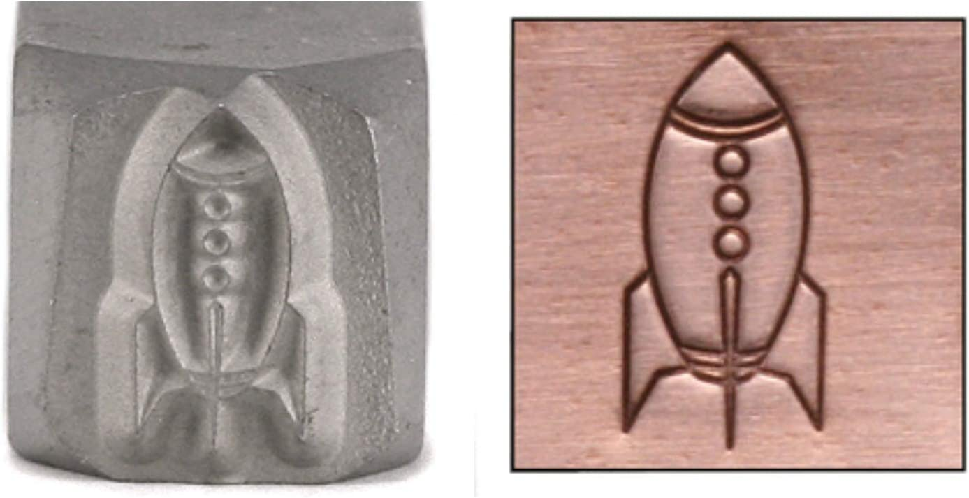 Rocket Metal Design Max 82% OFF Stamp 8mm Pu Space Rocketship Limited time cheap sale Planets Outer