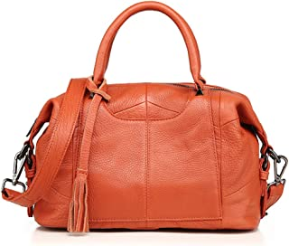 Fashion Tassel Women'S Handbag Leather Stitching Large Capacity Shoulder Crossbody Bag (Multi-Color Optional)