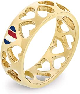 TOMMY HILFIGER WOMEN'S IONIC GOLD PLATED STEEL RINGS -2701094D