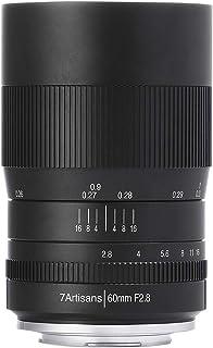 【国内正規品】七工匠 7Artisans 単焦点レンズ 60mm F2.8 Macro (マイクロフォーサーズ, ブラック) 6028M43B