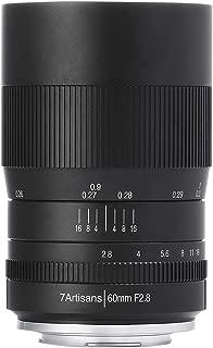 【国内正規品】七工匠 7Artisans 単焦点レンズ 60mm F2.8 Macro (キヤノンRF ※1.6倍クロップ) 6028RB