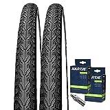 Set: 2x Kenda K935Negro neumáticos para bicicleta 47–355/18x 1.75+ 2mangueras Flash Válvula