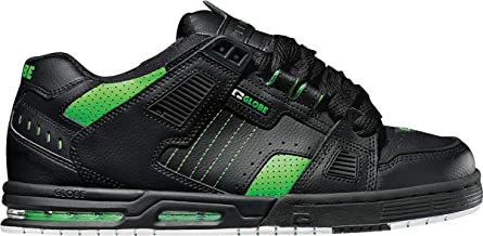 globe shoes sabre black moto green