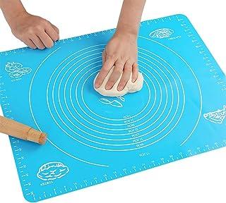 Silikon-Backmatte für Teig, mit Messungen, hitzebeständige Tischunterlage, Backbrett,..