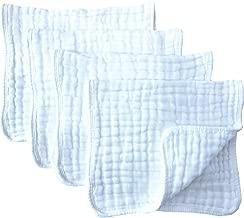 Muslin Burp Cloths 4 Pack Large 20