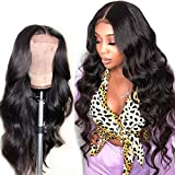 4X4 Lace Front Wigs Human Hair Body Wave Free Part Preplucked With Baby Hair Cheap 9A Grade Raw Remy Indian Hair 4 By 4 Lace Base High Density Unprocessed Virgin Hair Natural Color 16 Inch
