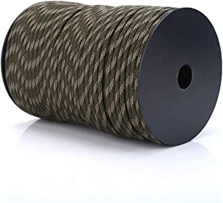 HelloCreate 100M Multifunctioneel Paracord 550 Reflecterend Paracord Parachutelkoord 9-Draads Kern - Camouflage