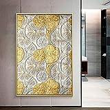 Fashion Square Burst Circle Canvas Painting Black and Gold Poster Print Sala de estar Wall Art Picture 40x60cm
