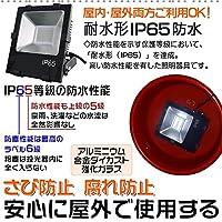 2年保証『避雷型LED投光器』 30W 3000lm 昼光色6000K 広角ライト ビーム角120度 IP65 防水投光機 LEDフラッドライト LED看板灯 作業灯 《台湾製Mean Well電源、日本製LED素子》