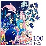 Georgie Porgy Dibujos Animados Puzzles Rompecabezas Multicolor Educativo Puzzles Juguetes Regalos Juegos para Niñas Niños de 5 Años en Adelante (100 PC Sirena)