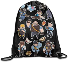 Etryrt Mochilas/Bolsas de Gimnasia,Bolsas de Cuerdas, Drawstring Backpack Sack Bag Team Fortress 2 BLU All Class Home Travel Sport Storage Hiking Running Bags