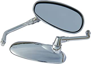 Chrome Motorcycle Rear View Side Oval Mirrors for 2007 Honda Shadow Aero 750 VT750C