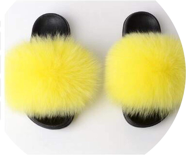 Lewis Pitman F-ox Slippers Fluffy Slippers Soft Women Summer Plush f-ur shoes